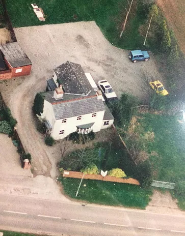 Historical aerial view of Holmer Vets