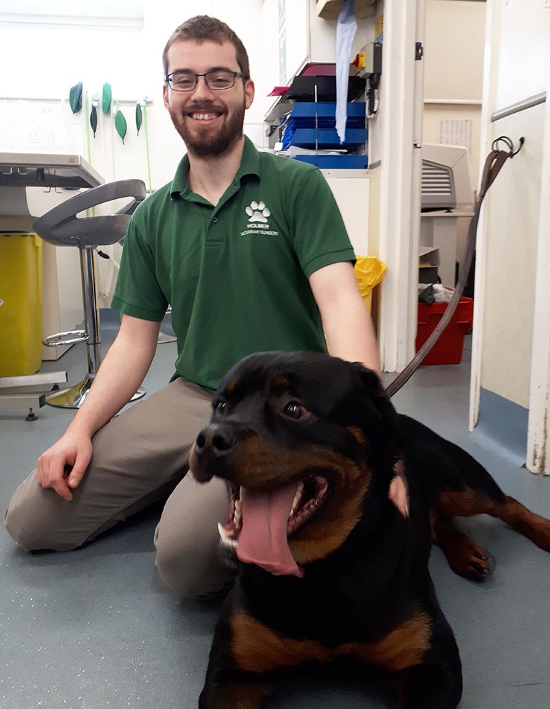 Dan with rottweiler
